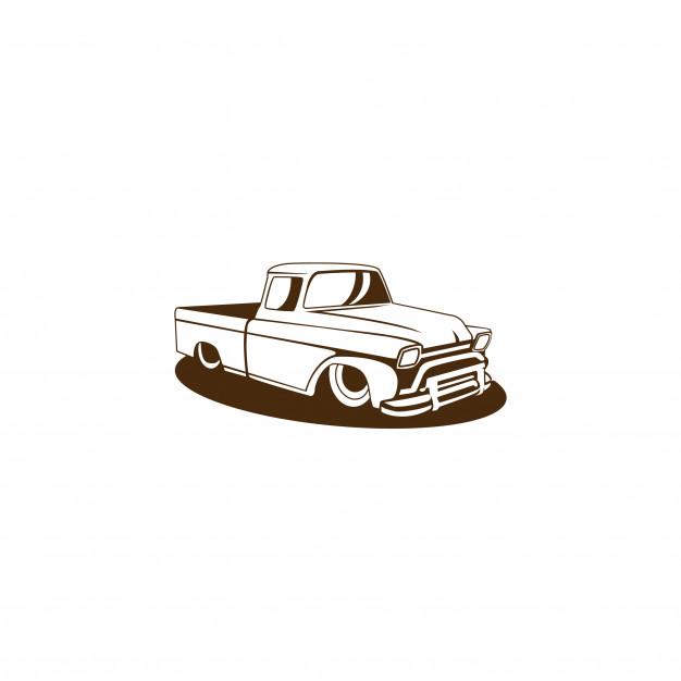 626x626 Old Truck Vector Premium Download