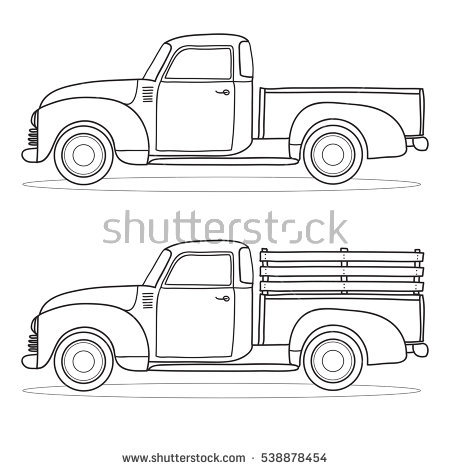 450x470 Collection Of Pickup Truck Outline Drawing High Quality