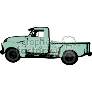 300x300 Royalty Free Ocean Green Old 1954 Vintage Pickup Truck Profile