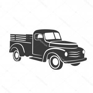300x300 Stock Illustration Old Vintage Tow Truck Vector Shopatcloth