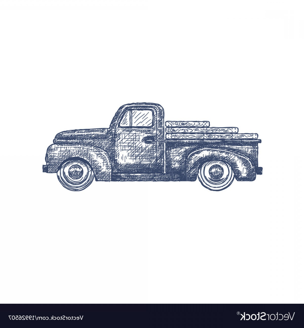 1200x1296 Vintage Truck Vector Shopatcloth