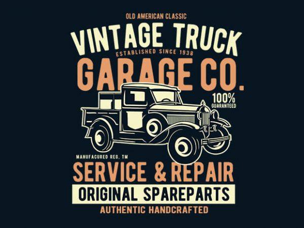 600x450 Vintage Truck Vector T Shirt Design