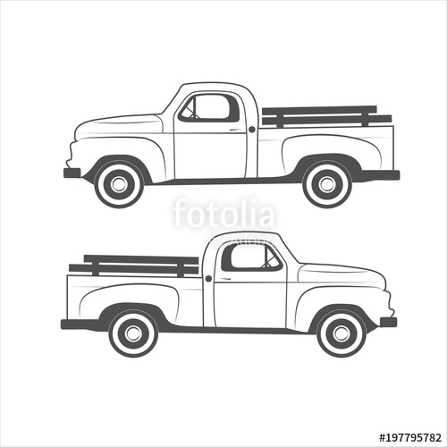 500x500 Vintage Truck Element Design Stock Image And Royalty Free Vector