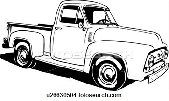 350x208 Ford Clipart Antique Truck