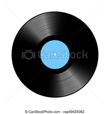 450x470 Vintage Vinyl Record. Vintage Vinyl Lp Record Vector Illustration