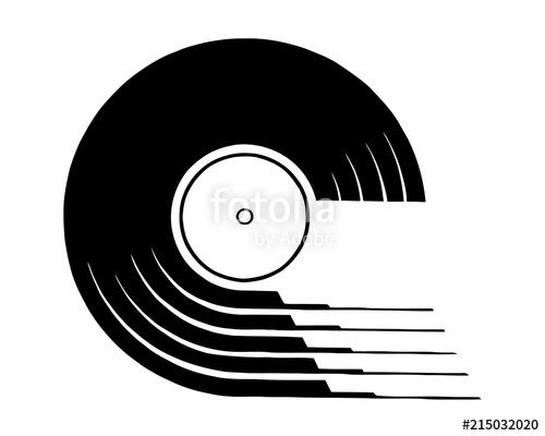 500x400 Vinyl Record Icon. Simple Illustration Of Vinyl Record Vector Icon
