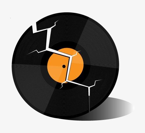 499x457 Vector Vinyl Record, Vinyl Vector, Cracked Vinyl Records, Retro