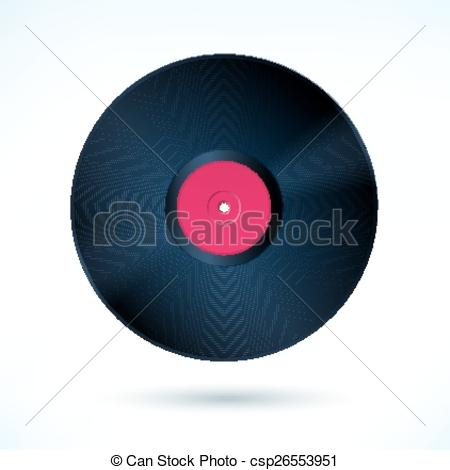 450x470 Vinyl. Vector Illustration Of Vinyl Disc.