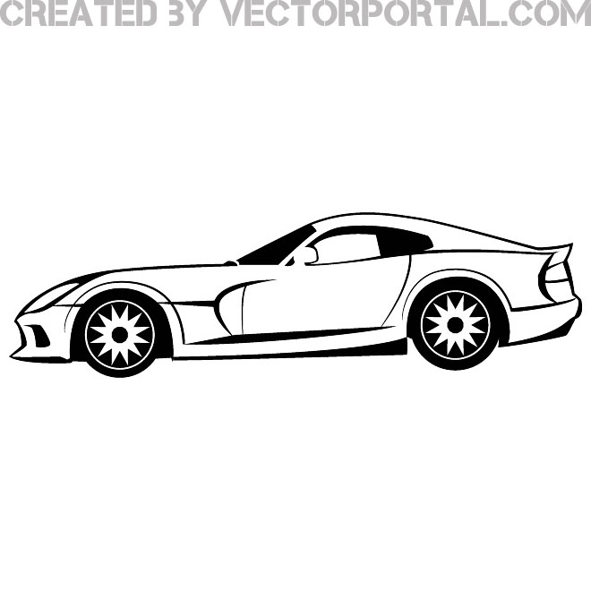 660x660 Viper Dodge Car Vector Image