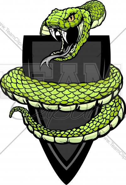 401x590 Viper Or Coiled Snake Body Vector Clipart Image