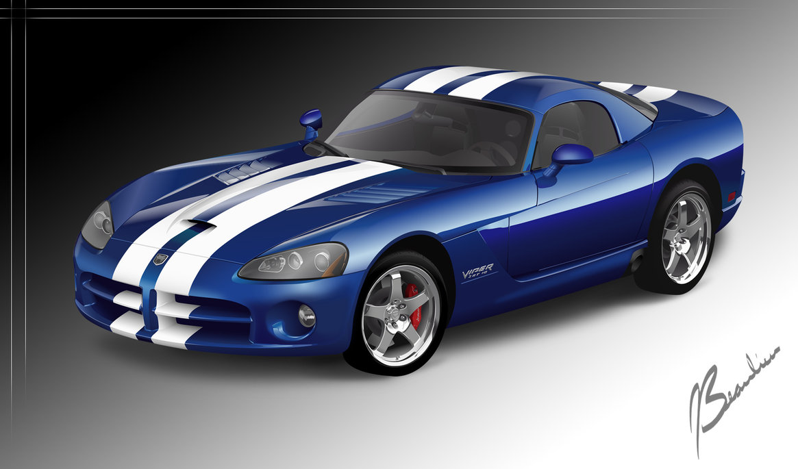 1165x685 Dodge Viper Vector By Desertviper