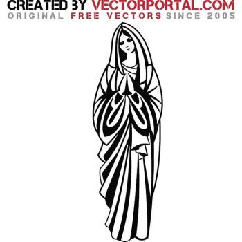 350x350 Mother Mary Vector Image By Vectorportal Bible In 2018
