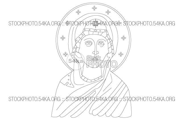 647x431 Saint Anne Mother Of The Virgin Mary Vector Art