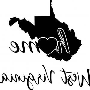 300x300 Printable Vector Map West Virginia Outline Arenawp
