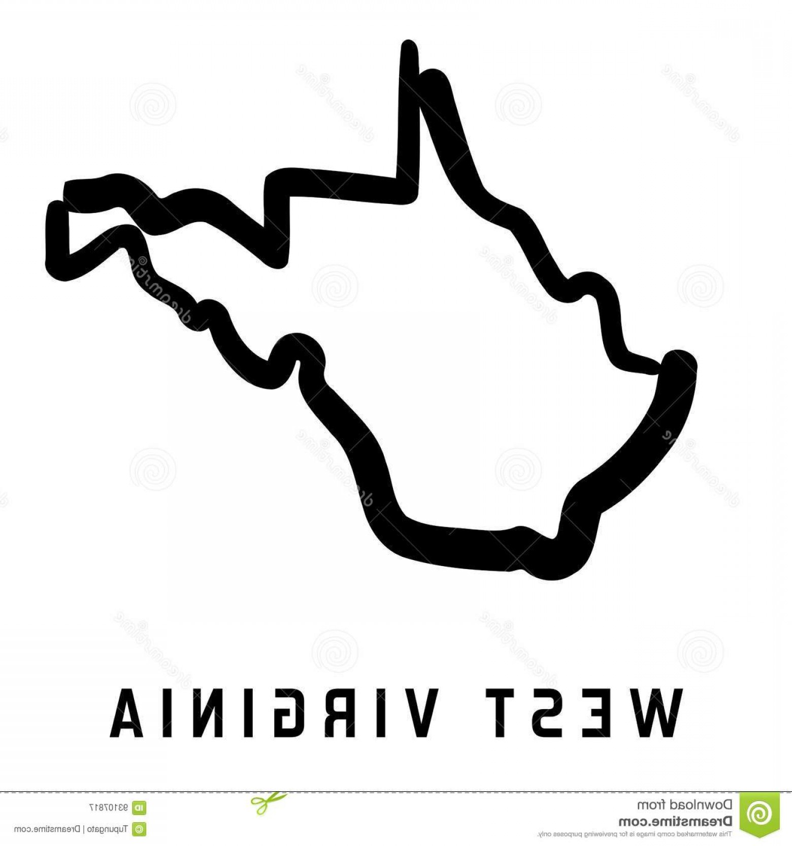 1560x1668 Stock Illustration West Virginia Simple Logo State Map Outline