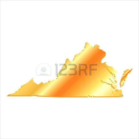 450x450 Stock Vector Of Map With Magnified West State Flag And Virginia Us