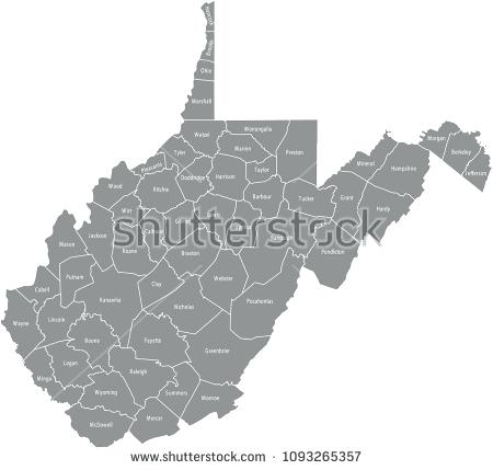 450x429 Stock Vector West County Map Outline Virginia State Lines