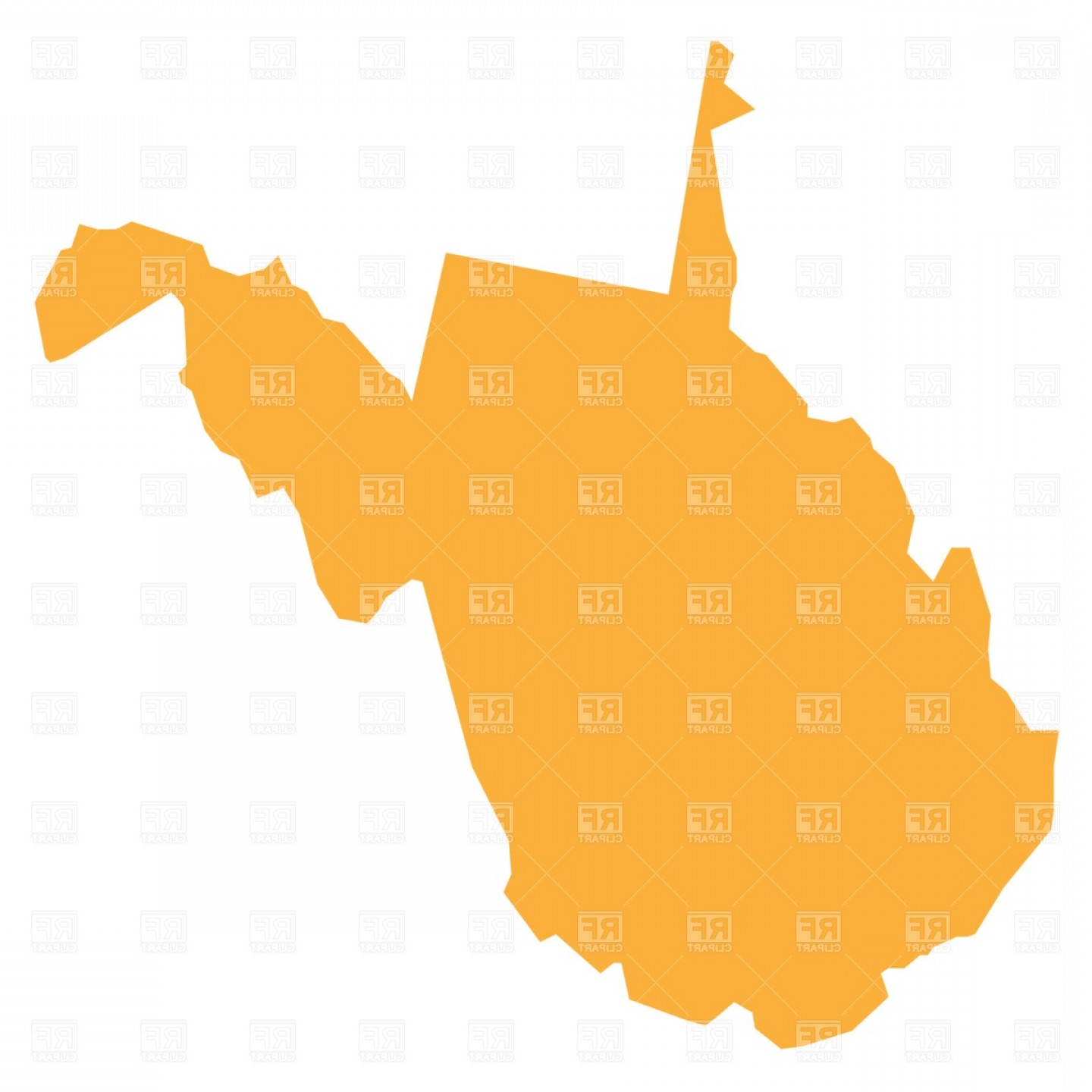 1440x1440 West Virginia State Outline Vector Arenawp