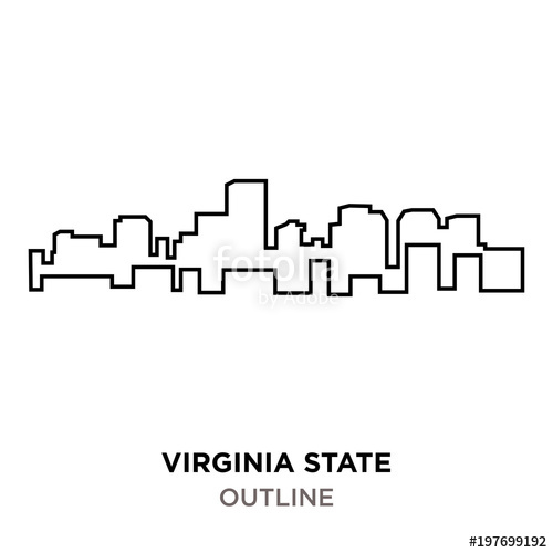 500x500 Virginia State Outline On White Background Stock Image And