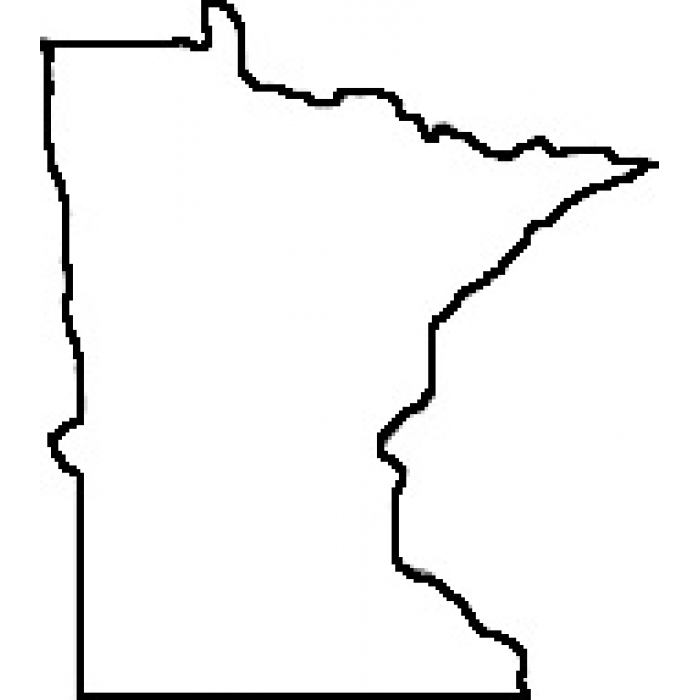 700x700 Minnesota State Shape Vector Best Photos Of State Outline Clip Art