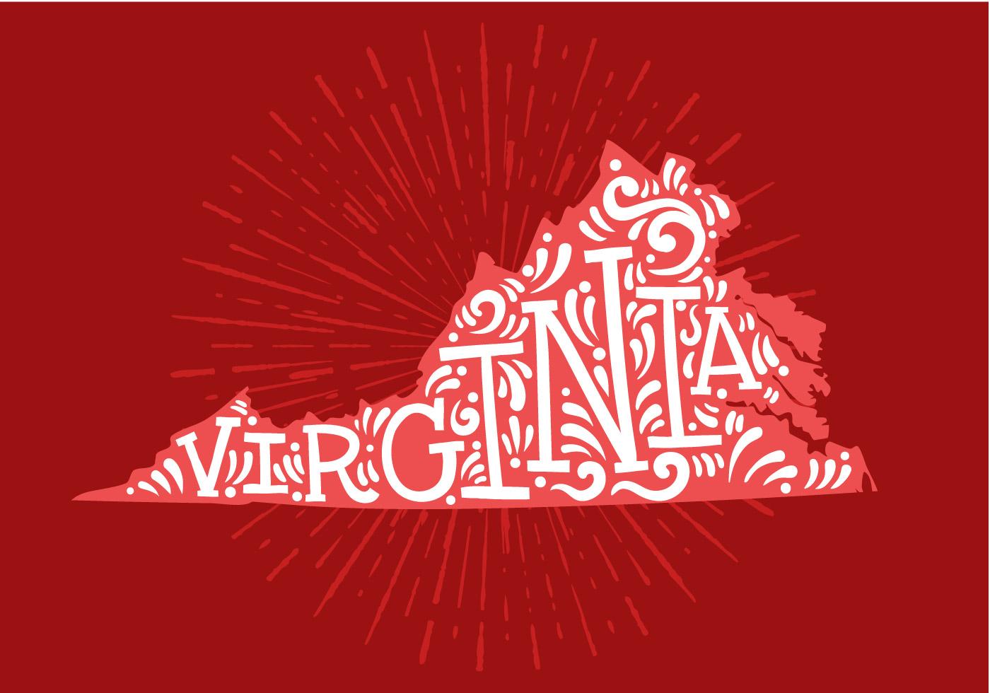 1400x980 Virginia Free Vector Art