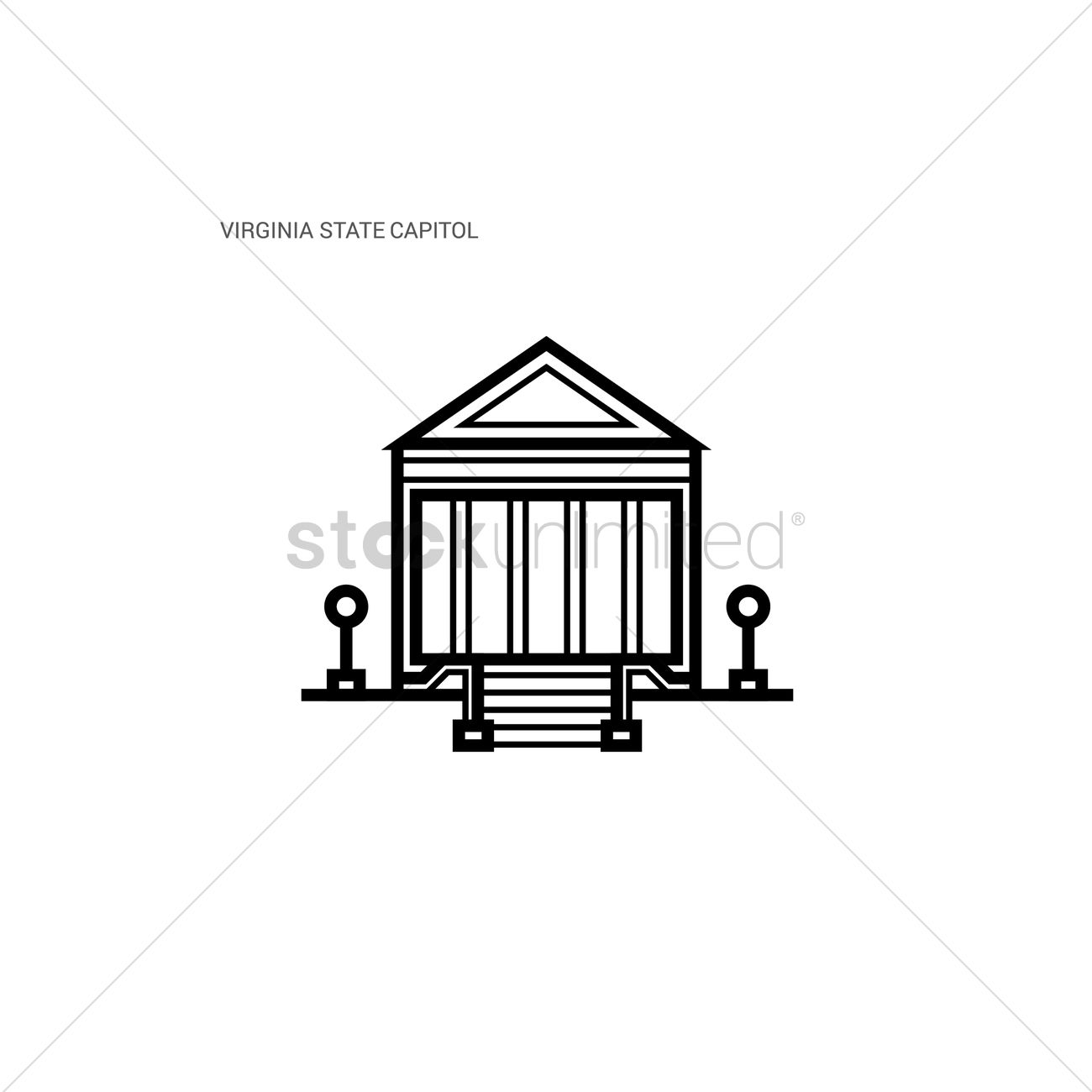 1300x1300 Virginia State Capitol Vector Image
