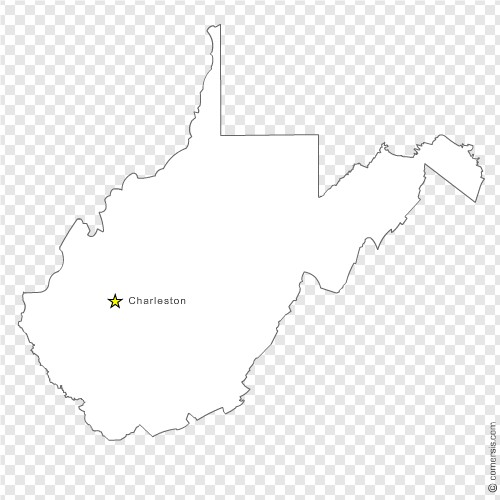500x500 West Virginia (Wv) Us State Free Vector Map
