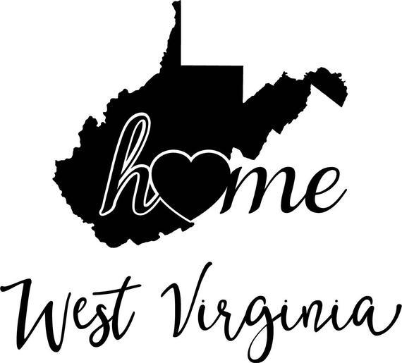 570x515 West Virginia State Map Digital File Svg Png Jpg Eps Vector Etsy