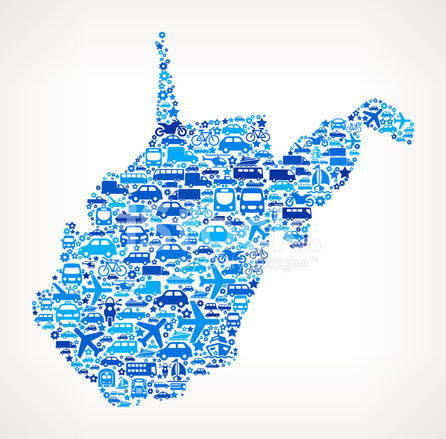 446x439 West Virginia State On Transportation Royalty Free Vector Art Pa