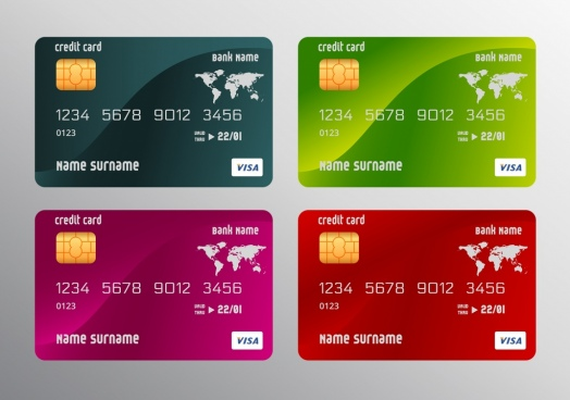 524x368 Visa Credit Card Vector Template Free Vector Download (23,367 Free