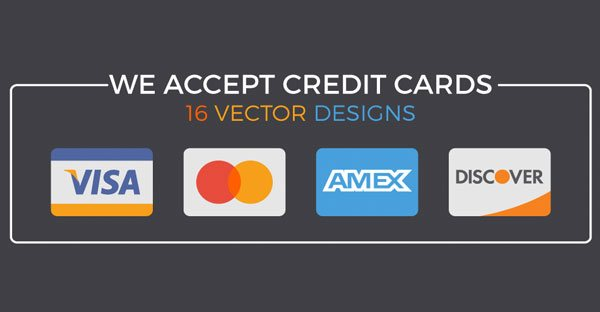 600x312 We Accept Credit Cards 16 Editable Vector Designs For Your