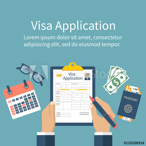 500x500 Application Visa Vector