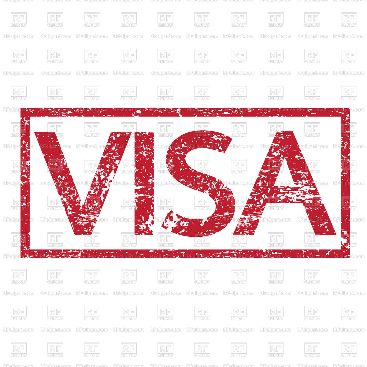 1200x1200 Stamp Text Visa Vector Image Vector Artwork Of Fonts Amp Type