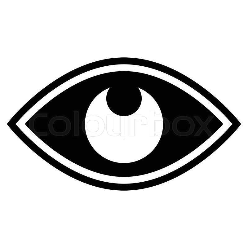 800x800 Eye Graphic. Vision, Seeing, Sight, Observation. Vector. Stock