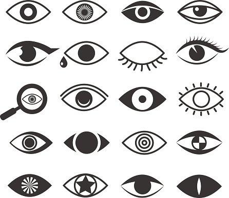 446x387 Eyes Eye Vision Vector Icons Set Premium Clipart