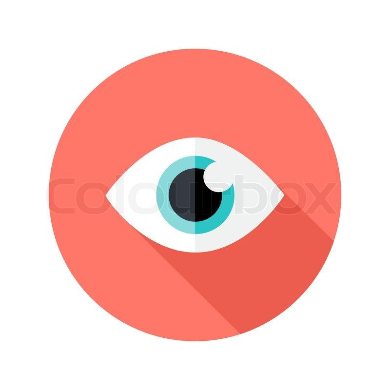 800x800 Illustration Of Vision Eye Circle Flat Icon Stock Vector Colourbox