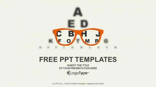 600x338 Optician Vision Of Eyesight Vector Powerpoint Templates