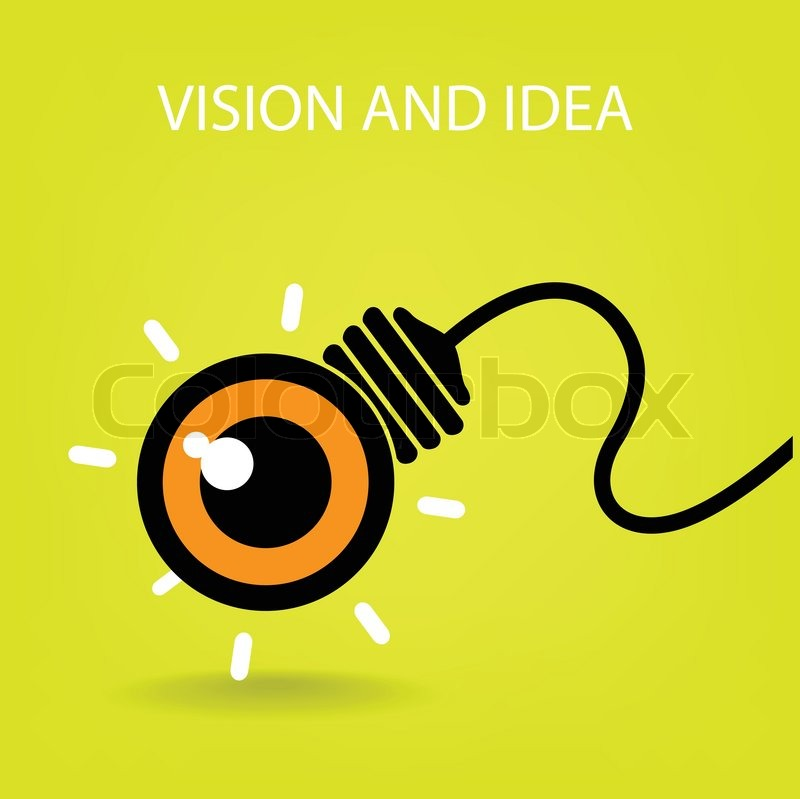 800x799 Vision And Ideas Sign,eye Icon,light Bulb Symbol ,business Concept