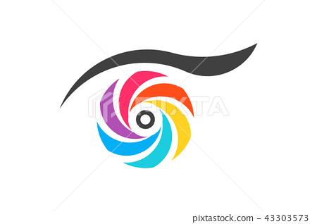 450x318 Colorful Eye Vision. Vector Logo Symbol