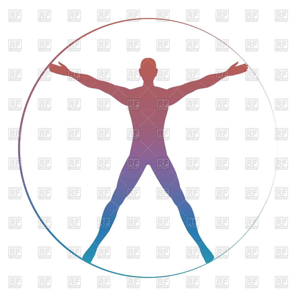 1200x1200 Modern Colorful Vitruvian Man Vector Image Vector Artwork Of