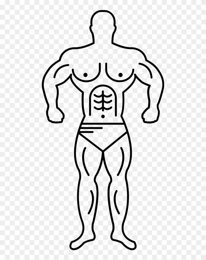 840x1061 Super Muscle Man Outline Svg Png Icon Free Download