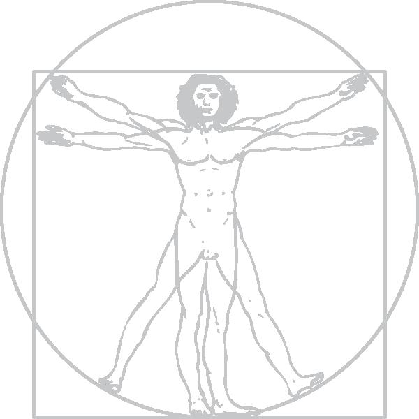 600x600 Vitruvian Man Clip Art