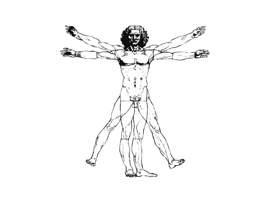 866x650 Vitruvian Man Vector File