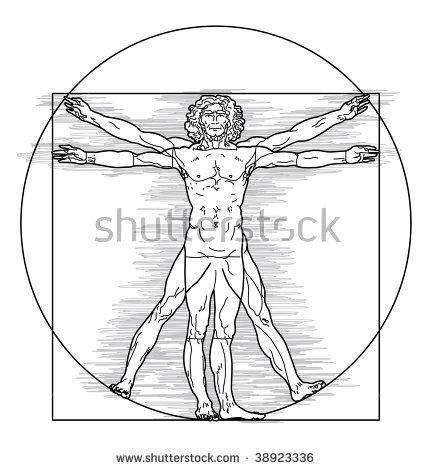 431x470 Vitruvian Man Vector Free Download Download Vitruvio Vector Free