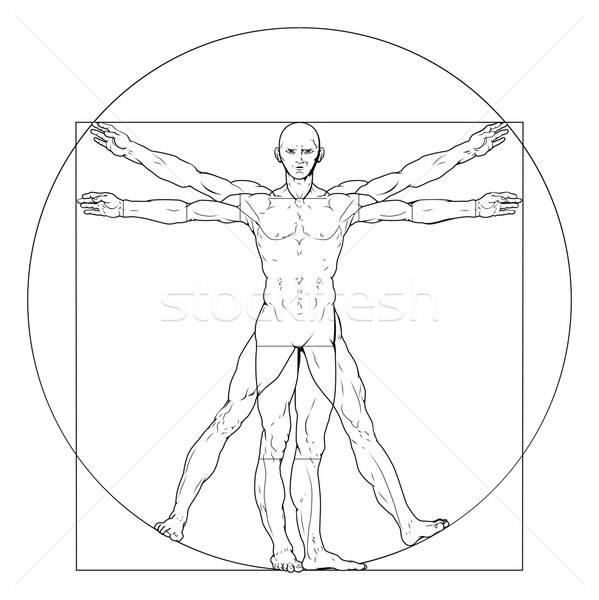 599x600 Vitruvian Man Vector Illustration Christos Georghiou (Krisdog