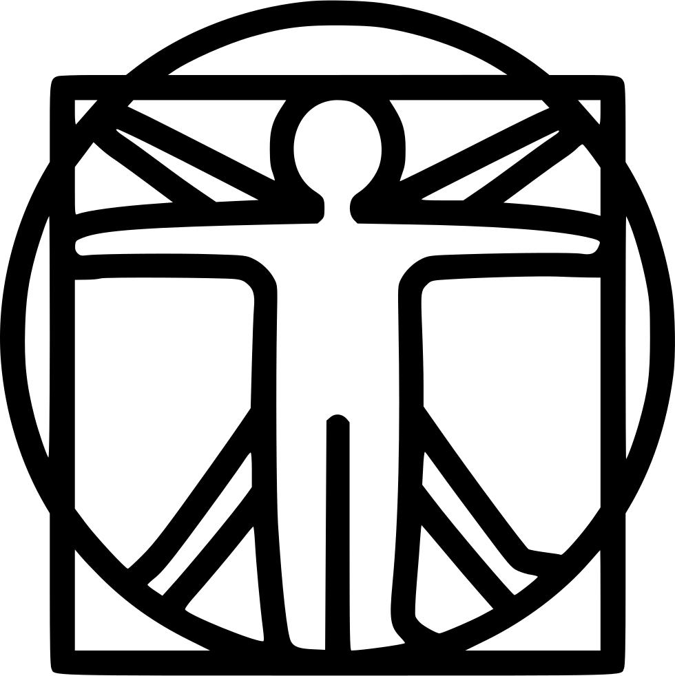 980x982 Davinci Vinchi Vitruvian Man Human Antropo Svg Png Icon Free