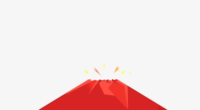 650x359 Vector Volcan Rojo Three Dimensional Three Archivo Png Y Psd Para