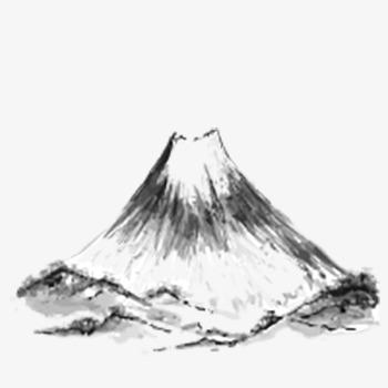350x350 Volcan Tinta Vector Blanco Y Negro Tinta Volcanic Png Y