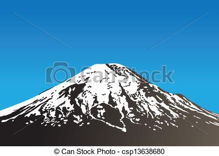 450x320 Dormant, Volcan. Beau, Dormant, Illustration), Ciel Clair, Volcan