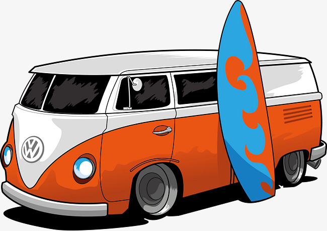 650x458 Volkswagen Station Wagon Vector Material, Vector Graphics, Vector